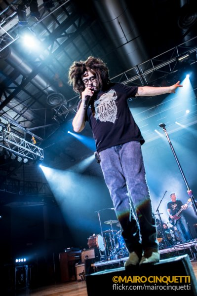American rock band Counting Crows performing a show at Alcatraz in Milano, Italy.